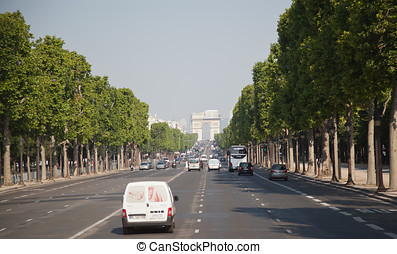 Champs Elysees - Famous street of champs elysees in Paris.