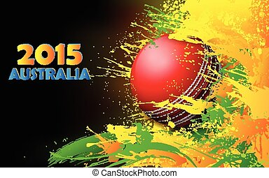 Cricket ball in grungy abstract background