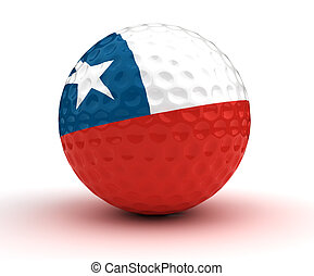 Chilean Golf Ball (Isolated with clipping path)