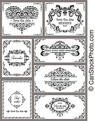Vintage templates for wedding design