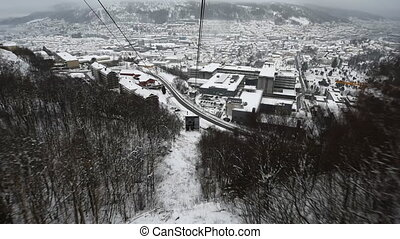 Cable car on Ulriken - Descend by cable car from Mount...