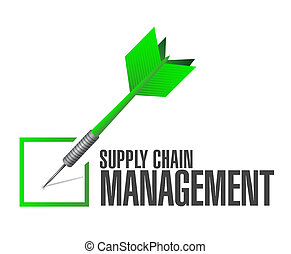 supply chain management check dart illustration design over...