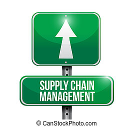 supply chain management road sign