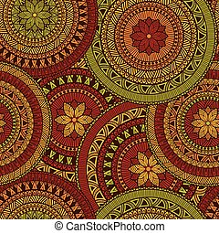 Vector Seamless Ethnic Pattern, seamless pattern in swatch...