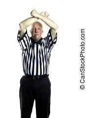 Double Foul - Basketball referee signaling a Double Foul