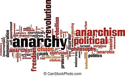 Anarchy word cloud concept. Vector illustration