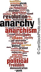 Anarchy word cloud concept Vector illustration