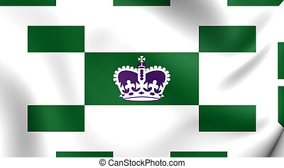 Flag of Charlottetown, Canada Close Up