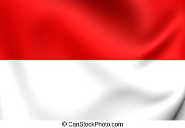 Flag of Indonesia Close Up