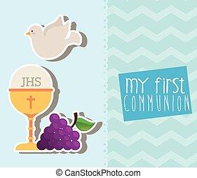 meu, primeiro, communion, ,