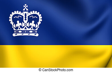 Flag of Regina, Canada. Close Up.