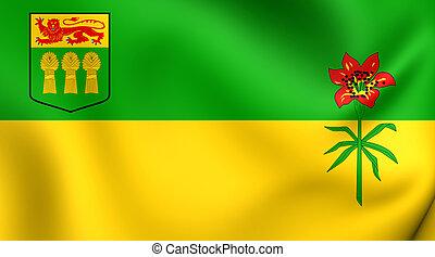 Flag of Saskatchewan, Canada.