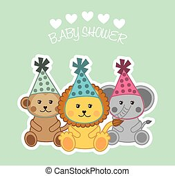 baby shower design, vector illustration eps10 graphic