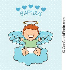 baptism angel design, vector illustration eps10 graphic