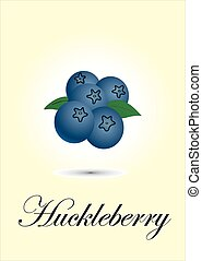 Huckleberry chart vector illustration
