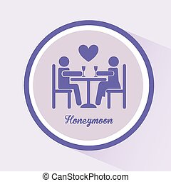 honeymoon design, vector illustration eps10 graphic