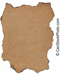 Old papier with burnt edges. - Really old paper, please zoom...