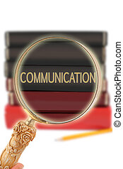 Looking in on education - Communication - Magnifying glass...
