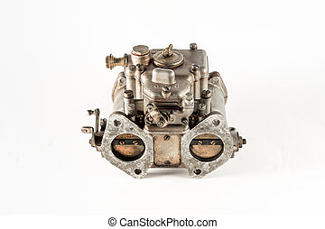 Carburetor - the carburetor with its valves of the...