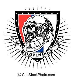 slovakia ice hockey helmet shield