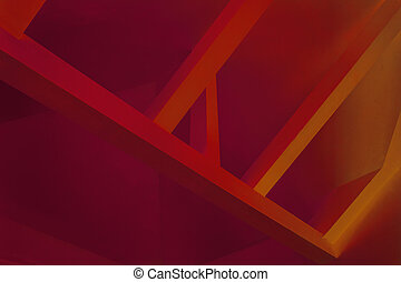 Abstract image with red and orange colors