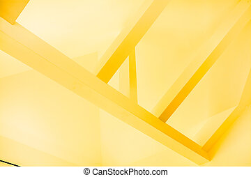 Yellow construction - Photo of yellow frame of construction