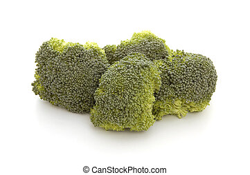 StillLife-12-0028 - Broccoli florettes isolated on a white...