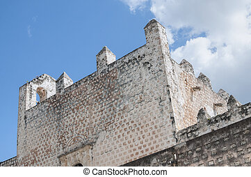 Convent in Valladolid - Thick stone fortress-lilke...