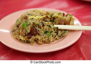 Round fried rice - Asian fried sticky rice in round shape