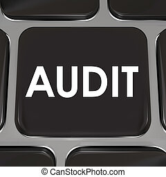 Audit Keyboard Computer Key Tax Accounting Review...