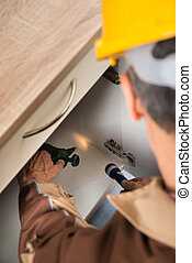 Pest Control Worker Spraying Chemicals - Close-up Of Pest...