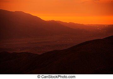 Coachella Valley Sunset - Coachella Valley and San...