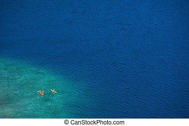 Lake Kayaking. Lake Tahoe Kayaking. California, United...