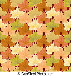 Seamless pattern leafs