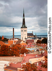 Tallinn autumn tilt-shift