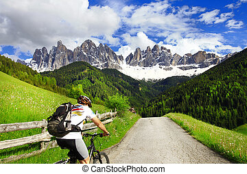 cycling in Dolomites