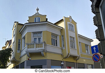 Old renovated building in Ruse town, Bulgaria