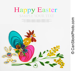 quilling on a holiday theme Happy Easter - crafts with their...