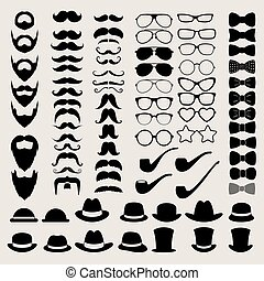Hipster style infographics elements and icons set for retro design.