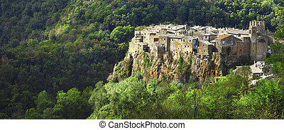 beautiful Calcata,Lazio,Italy - medieval hill top...