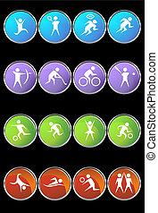 sport set round black