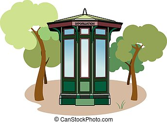 Information kiosk - Vector illustration, a kiosk in a...