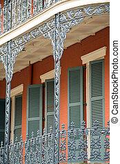 histórico, casa, nuevo, Orleans