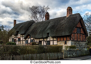 Anne Hathaway's Cottage, the farmhouse where the wife of...