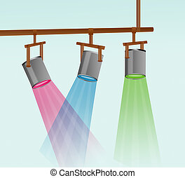 Colorful Stage Light Illustration - Colorful stage light...