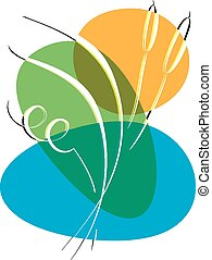 Bulrush Abstract vector illustration on a white background -...