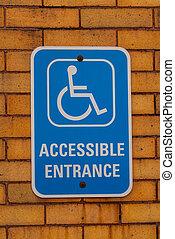 Handicap Entrance Sign moun