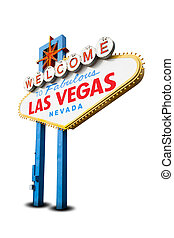 Welcome to Las Vegas Sign on White Background