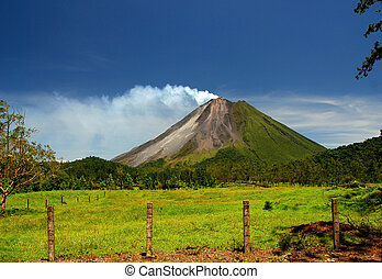 Arenal Volcano in Costa Rica - The Classic Cone Shape of...