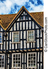 Old building facade in Stratford, UK - Old building facade...